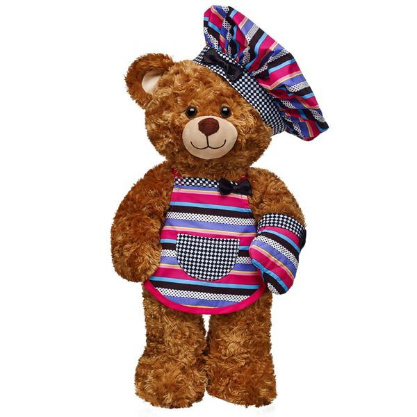 This classic bear is as sweet as its name! Perfectly huggable and endlessly lovable, Crumb Bake Bear has soft, cinnamon fur, a darling smile and the B-A-B logo on its paw pad. Bring out the personality of this web-exclusive bear with unique clothing and accessories.