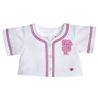 Root on the San Francisco Giants™ with this fun Major League Baseball™ jersey! This white jersey features pink trim for a stylish play on the traditional baseball uniform. It's the perfect gift for the sports fan in your life! Major League Baseball trademarks and copyrights are used with permission of Major League Baseball Properties, Inc. Visit MLB.com