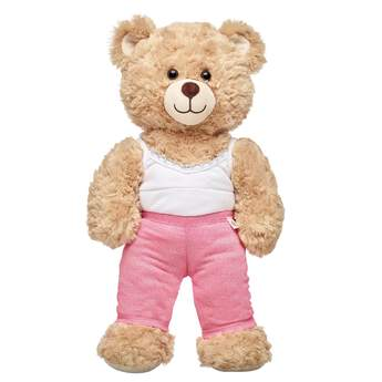Your furry friend's exercise wardrobe gets a sparkly pink upgrade with this fun pair of leggings for teddy bears! Outfit a furry friend online to make the perfect gift. Free shipping on orders over $45. Make your own stuffed animal online with our Bear Builder or visit a store near you.