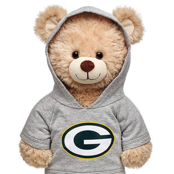 Touchdown! Cheer on the Green Bay Packers with this teddy bear sized hoodie. This gray hoodie with team logo makes the perfect gift for any football fan.© 2015 NFL Enterprises LLC. Team names/logos are trademarks of the teams indicated.