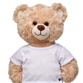 This teddy bear size White T-Shirt looks great with anything.