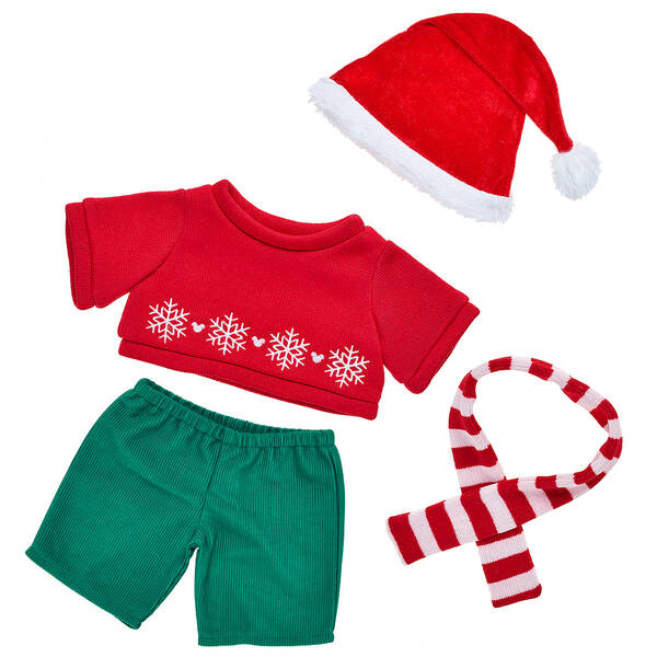 Online Exclusive Disney Mickey Mouse Holiday Outfit - Build-A-Bear Workshop®