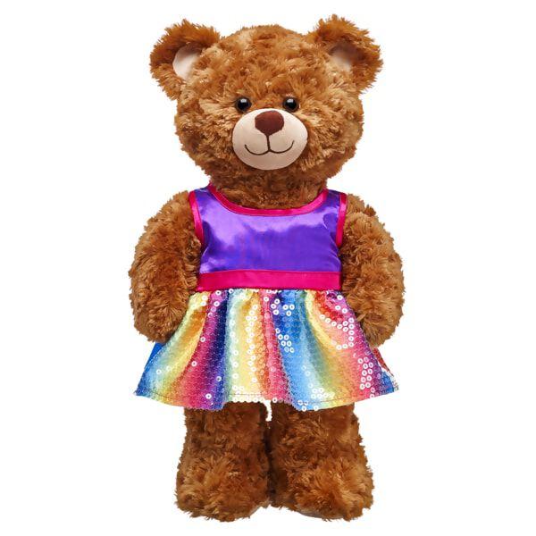 Purple Rainbow Sequin Dress, , hi-res