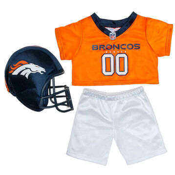 Teddy bear size Denver Broncos NFL Fan Set complete with jersey, pants and soft helmet makes the perfect gift for Broncos fans!© 2014 NFL Enterprises LLC. Team names/logos are trademarks of the teams indicated.
