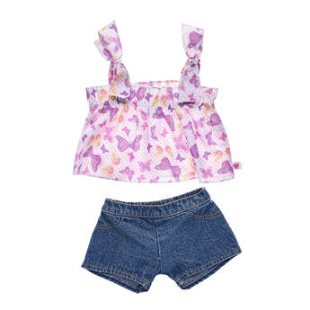 Butterfly Tank and Short Set 2 pc. - Build-A-Bear Workshop®
