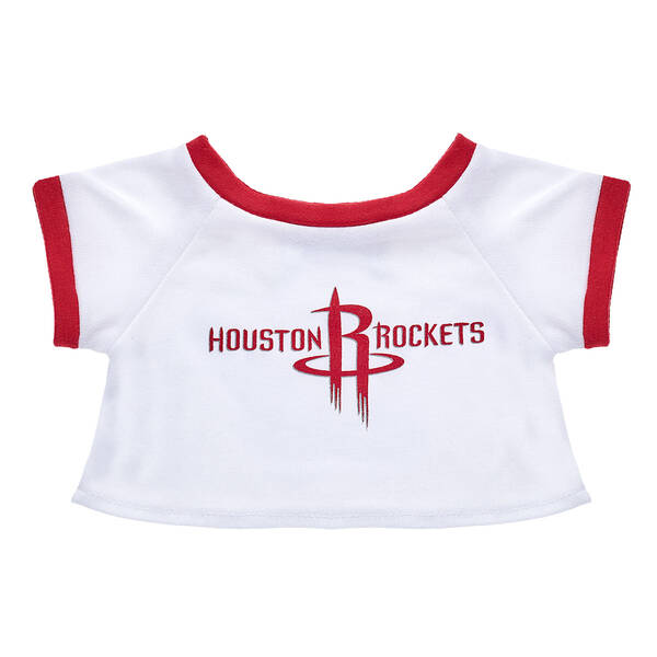 Go Rockets! Gear up your furry friend with this authentic Houston Rockets ringer tee. A furry friend in this bear-sized tee is the perfect gift for any Rockets fan! NBA and NBA team identifications are the intellectual property of NBA Properties, Inc. and the respective NBA member teams. © 2018 NBA Properties Inc.  All Rights Reserved.