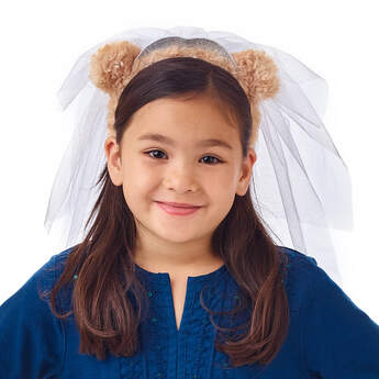 Bear Ears Headband and Veil for Kids - Build-A-Bear Workshop®