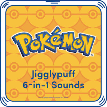 Let Jigglypuff sing you a soothing lullaby! Add this 6-in-1 Jigglypuff sound to your furry friend for additional Pokémon fun! ©2018 The Pokémon Company International. ©1995–2018 Nintendo / Creatures Inc. / GAME FREAK inc. TM, ®, and character names are trademarks of Nintendo.