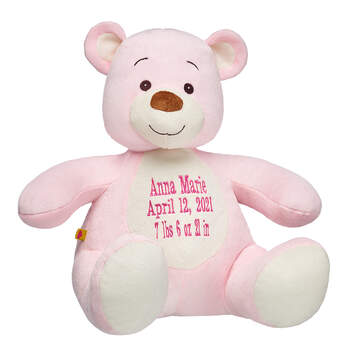 Online Exclusive 14 in. Personalized Pink Sweet Velvet Teddy - Build-A-Bear Workshop®