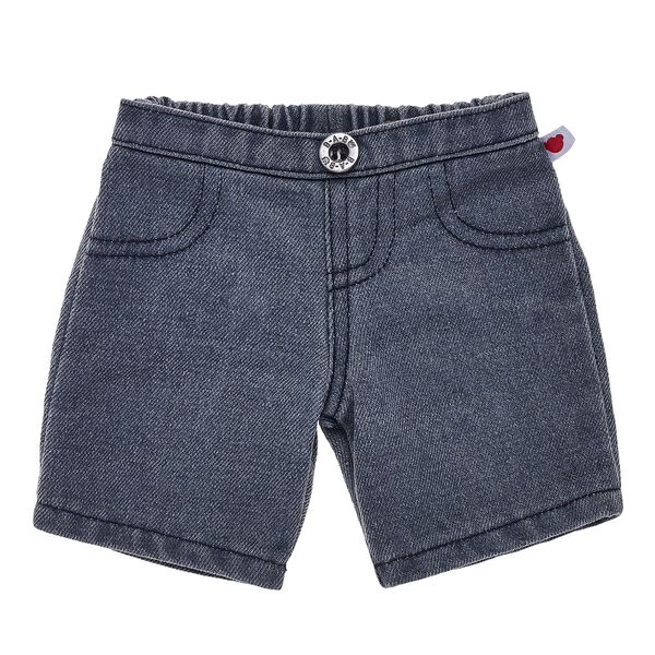 For a fashionable denim look that goes great with any outfit, consider these charcoal jeans that are perfectly sized for your furry friend. With a BABW button and a bear emblem tag on the left hip, these charcoal stuffed animal jeans provide the perfect amount of cool for any of your furry friends' looks.