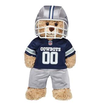 Tackle some fun! This teddy bear-sized Dallas Cowboys NFL Fan Set comes complete with jersey, pants and a soft helmet. It makes the perfect gift for Cowboys fans! © 2018 NFL Enterprises LLC. Team names/logos are trademarks of the teams indicated.