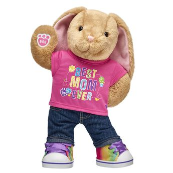 """Give a Mother's Day gift that's sure to hop straight into her heart! This adorable bunny gift set is a great way to make FURever memories for Mom. <p>Price includes:</p>  <ul>    <li>Pawlette™ </li>     <li>Best Mom Ever T-Shirt</li>    <li>Denim Jeans</li>    <li>Rainbow High-Tops</li> </ul>"""