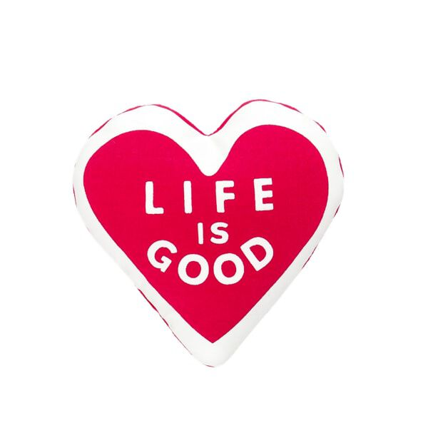 Red Life is Good® Plush Heart. Spead the Power of Optimism with this Life is Good® plush heart. It's just the right size for furry friend's arm!©