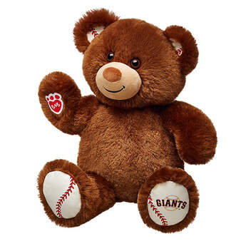 Bring your bear to the ballgame! San Francisco Giants Bear is a brown bear with a Giants logo on its paw and a baseball pattern on its ears and paws. It's the perfect companion for cheering on the Giants! Personalize this gift for the baseball fan in your life with clothing and accessories.Major League Baseball trademarks and copyrights are used with permission of Major League Baseball Properties, Inc. Visit MLB.com