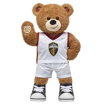 Go Cavs! If you're looking for a personalized gift for the Cavaliers fan in your life, this teddy bear gift set is nothin' but net! Basketball Bear is ready to hit the court in its two-piece Cleveland uniform. NBA and NBA team identifications are the intellectual property of NBA Properties, Inc. and the respective NBA member teams. ©2018 NBA <p>Price includes:</p>  <ul>    <li>Basketball Bear</li>    <li>Cleveland Cavaliers Uniform 2 pc.</li>    <li>Black Canvas High-Tops</li> </ul>