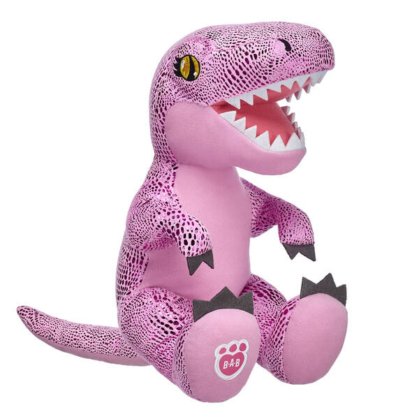 Have ferocious fun with one of the biggest dinosaurs to ever live! With pink, scaly fur and a fun smile, this adorable stuffed T-Rex is an instantly recognizable dinosaur. Free shipping on orders over $45. Make your own Pink T-Rex Plush Toy online with our Bear Builder or visit a store near you.