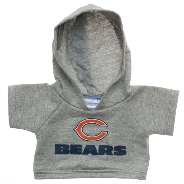 Touchdown! Cheer on the Chicago Bears with this teddy bear sized hoodie. This gray hoodie with team logo makes the perfect gift for any football fan.© 2015 NFL Enterprises LLC. Team names/logos are trademarks of the teams indicated.