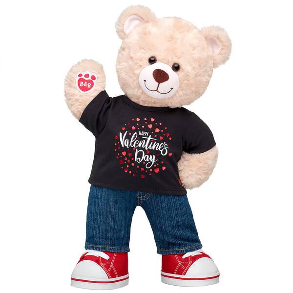 Online Exclusive Happy Hugs Teddy Valentine's Day Gift Set, , hi-res