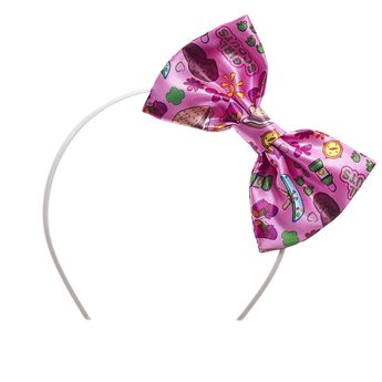 Every furry friend needs a sweet accessory! This pink bow headband features an adorable Girl Scouts print on it. It's the PAWfect addition to your furry friend's Girl Scouts uniform! TM & © Girl Scouts of the USA