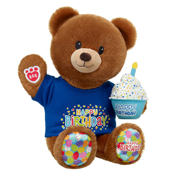 Birthday Treat Bear Blue Happy Birthday Gift Set, , hi-res