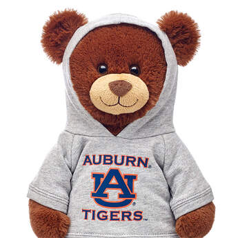 Officially licensed Auburn University Hoodie. This teddy bear size gray hoodie has an Auburn graphic on the front. It's the perfect size for a new furry friend. Go Tigers!©2015 Auburn University
