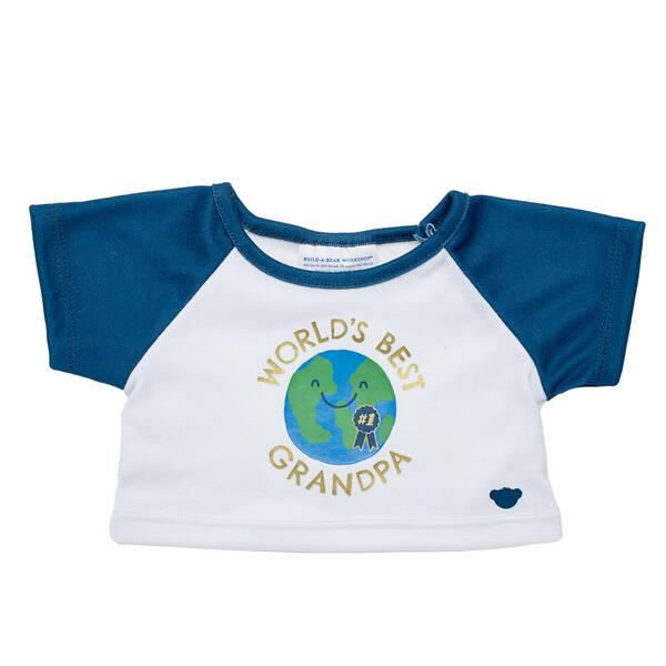 Online Exclusive World's Best Grandpa T-Shirt - Build-A-Bear Workshop®