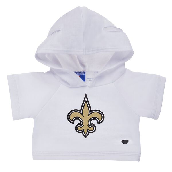 Touchdown! Cheer on the New Orleans Saints with this teddy bear sized hoodie. This cool hoodie with team logo makes the perfect gift for any football fan. © 2017 NFL Enterprises LLC. Team names/logos are trademarks of the teams indicated.