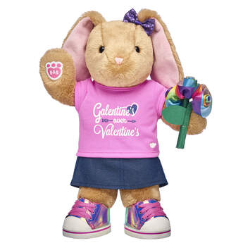 Pawlette bunny galentines stuffed animal gift set