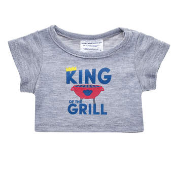"Chief of the Charcoal, Boss of the BBQ, King of the Grill — whatever you call Dad, this fun T-shirt makes for a ""well done"" gift! Fire up the perfect gift for Dad by dressing a furry friend in this cute King of the Grill tee."