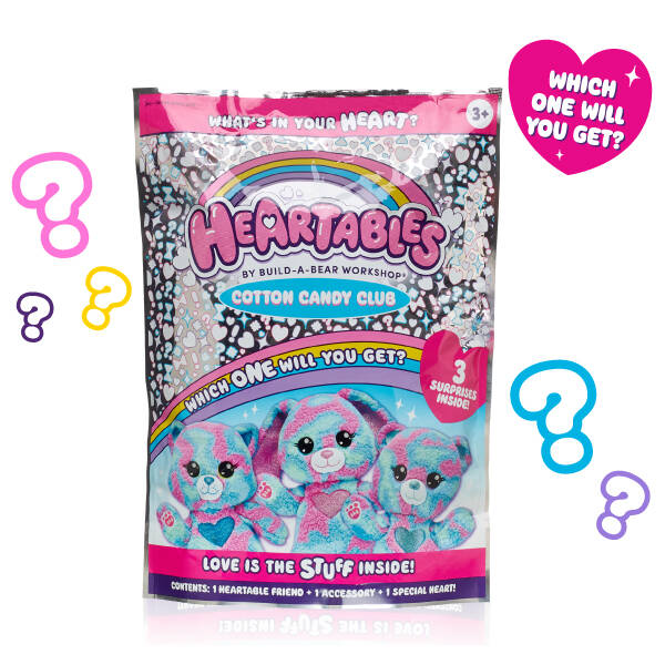Heartables Mystery Furry Friends - Cotton Candy Club Series - Build-A-Bear Workshop®