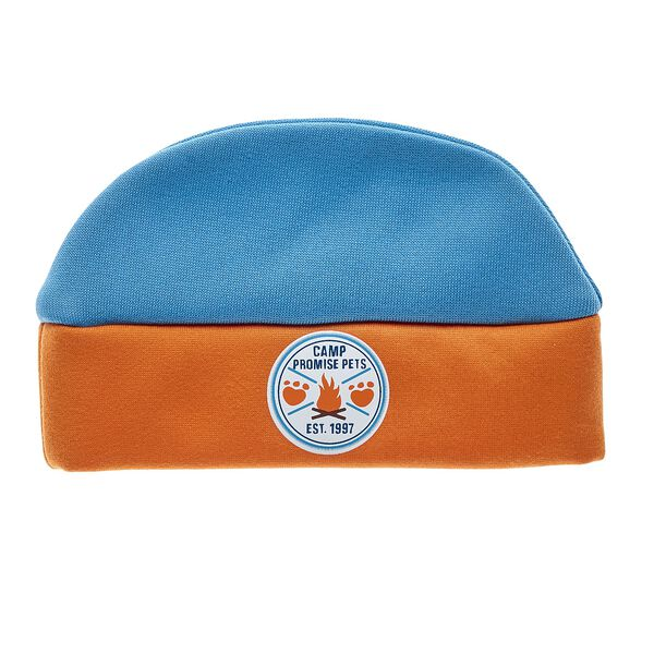 Keep your Promise Pets furry friend warm when they're outside! This soft beanie is blue and orange with the Camp Promise Pets logo in the center. Personalize a furry friend to make the perfect gift. Free shipping on orders over $45. Shop online or visit a store near you!