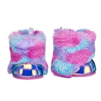 These fuzzy stuffed animal boots are sure to keep your furry friend's paws warm with their bright fur and metallic finish. Personalize a furry friend to make the perfect gift. Free shipping on orders over $45. Shop online or visit a store near you!