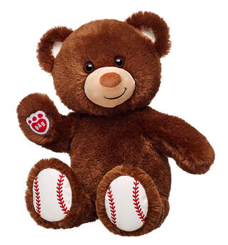 Home run! Hit it out of the park this baseball season with Make-Your-Own Baseball Bear! This athletic furry friend has dark brown fur with baseball inspired ears and paw pads. You can also showcase your support for your favorite team by outfitting Baseball Bear in its own uniform and baseball merchandise. With lots of ways to make it your own, Baseball Bear is the perfect gift for the ultimate sports fan in your life.