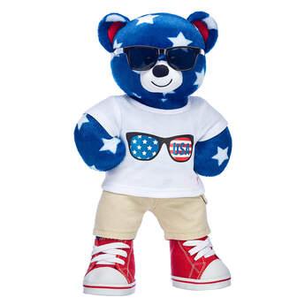Stars N' Stripes Bear Fourth of July Gift Set, , hi-res