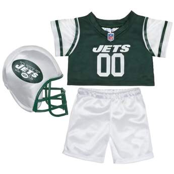 Teddy bear size New York Jets NFL Fan Set complete with jersey, pants and soft helmet makes the perfect gift for Jets fans!© 2014 NFL Enterprises LLC. Team names/logos are trademarks of the teams indicated.