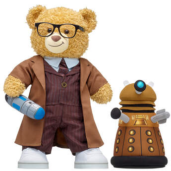 Online Exclusive Doctor Who Bear Tenth Doctor Dalek Gift Set, , hi-res