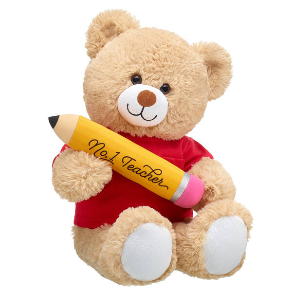 Online Exclusive Cuddly Brown Bear No. 1 Teacher Red Gift Set, , hi-res