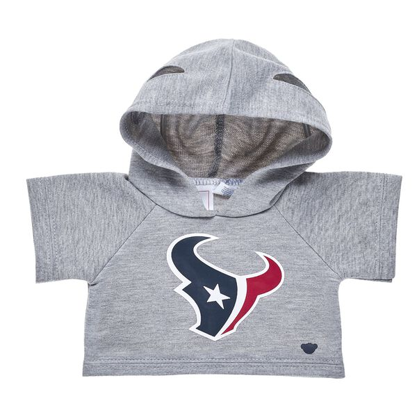 Touchdown! Cheer on the Houston Texans with this teddy bear sized hoodie. This cool hoodie with team logo makes the perfect gift for any football fan. © 2017 NFL Enterprises LLC. Team names/logos are trademarks of the teams indicated.