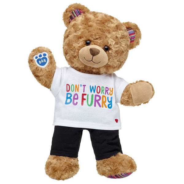 Online Exclusive Worry-Free Bear Black Leggings Gift Set, , hi-res