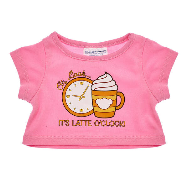 Online Exclusive Latte O'Clock T-Shirt - Build-A-Bear Workshop®
