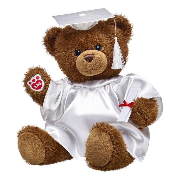 Traditional Cocoa Bear White Graduation Gift Set, , hi-res
