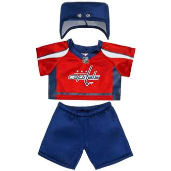 6682ca31612 Authentic teddy bear size NHL reg  Washington Capitals uniform includes  jersey