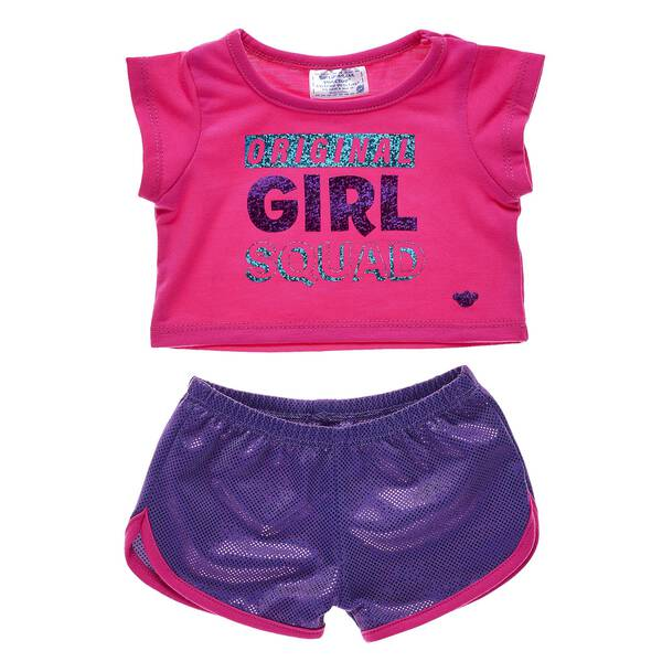 Dress the furry friends in your girl squad in this super fun outfit! This sporty pink and purple outfit has the PAWfect amount of sparkly glitter. Personalize a furry friend to make the perfect gift. Free shipping on orders over $45. Shop online or visit a store near you!