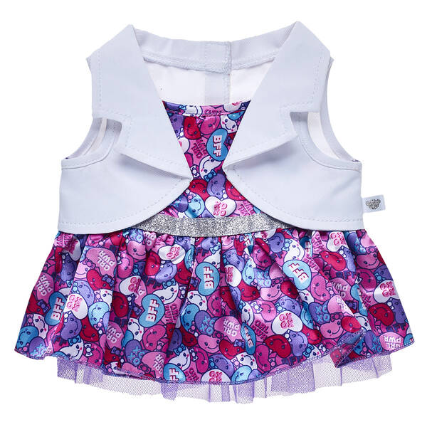 Candy Hearts 2-Fer Dress - Build-A-Bear Workshop®