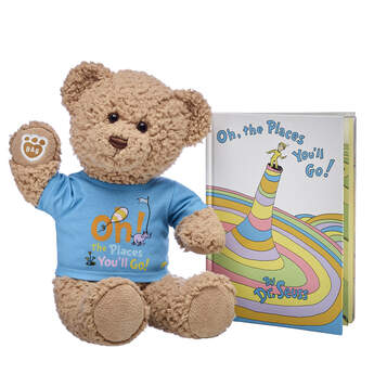Online Exclusive Timeless Teddy Oh, the Places You'll Go! Book Gift Set, , hi-res