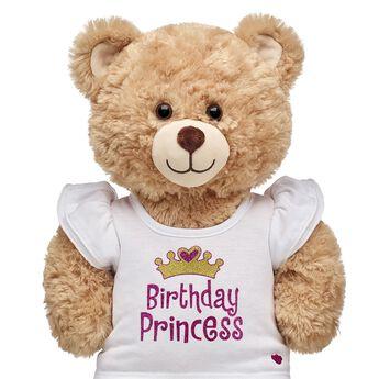 White Birthday Princess T-Shirt, , hi-res