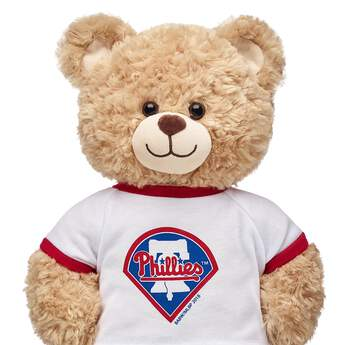 Make a grand slam of a gift for baseball fans with this Philadelphia Phillies™ tee shirt for stuffed animals! Outfit a furry friend online to make the perfect gift. Free shipping on orders over $45. Make your own stuffed animal online with our Bear Builder or visit a store near you.