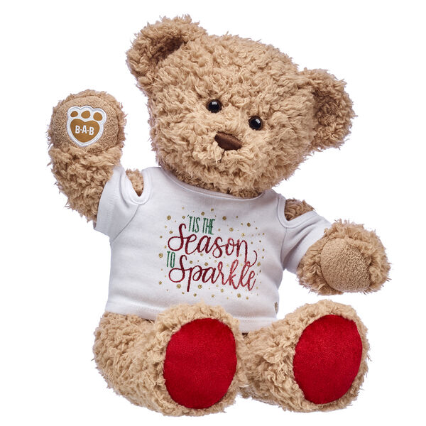 Tis the season to sparkle! Timeless Teddy looks cute as can be in this festively fun teddy bear gift set. The gift of bear hugs is a holiday surprise anyone will cherish!