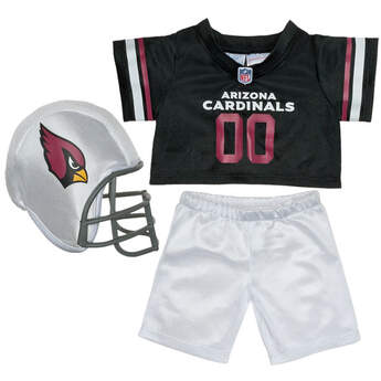 Teddy bear size Arizona Cardinals NFL Fan Set complete with jersey, pants and soft helmet makes the perfect gift for Cardinals fans!© 2014 NFL Enterprises LLC. Team names/logos are trademarks of the teams indicated.