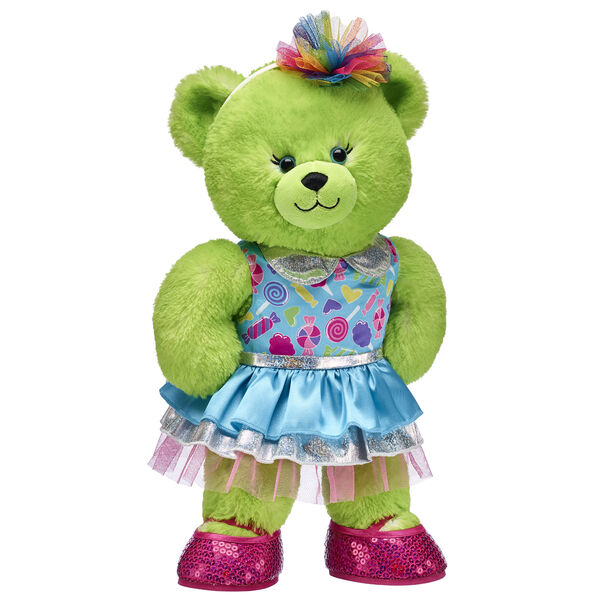 Lime Green Candy Pop Bear Gift Set, , hi-res